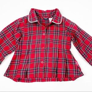 Izod Red Plaid Top